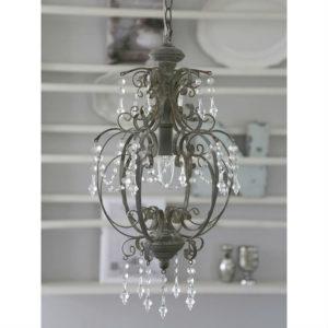 lampadario grigio chic antique 1 luce