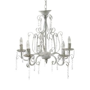 lampadario chic antique 5 luci